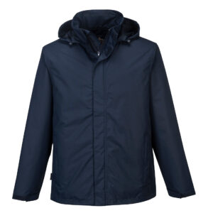 Corporate Shell Winter-Arbeitsjacke blau vorne