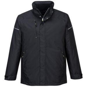 PW362 Winter-Arbeitsjacke schwarz vorne