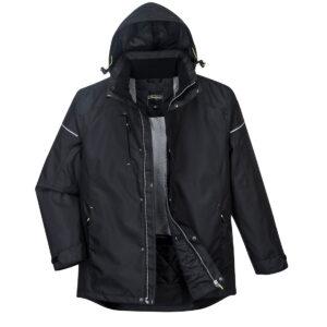 PW362 Winter-Arbeitsjacke schwarz vorne offen