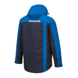 T740 Winter-Arbeitsjacke Blau seitlich hinten