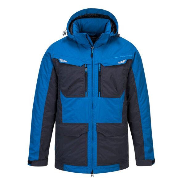 T740 Winter-Arbeitsjacke Blau vorne