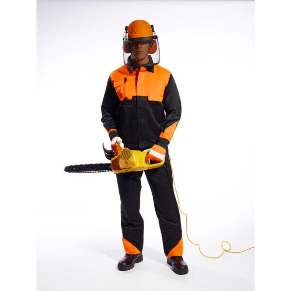 Waldarbeiter Schutzhelm Set mit Gittervisier und Ohrenschutz PW98 Portwest orange Beispielbild