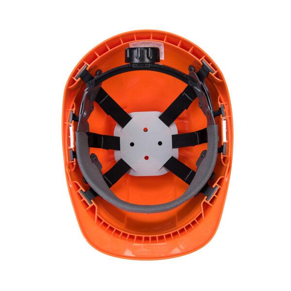 Waldarbeiter Schutzhelm Set mit Gittervisier und Ohrenschutz PW98 Portwest orange unten